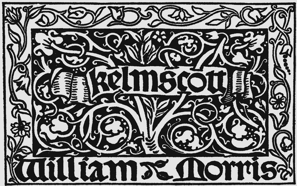Morris' design for the Kelmscott Press colophon