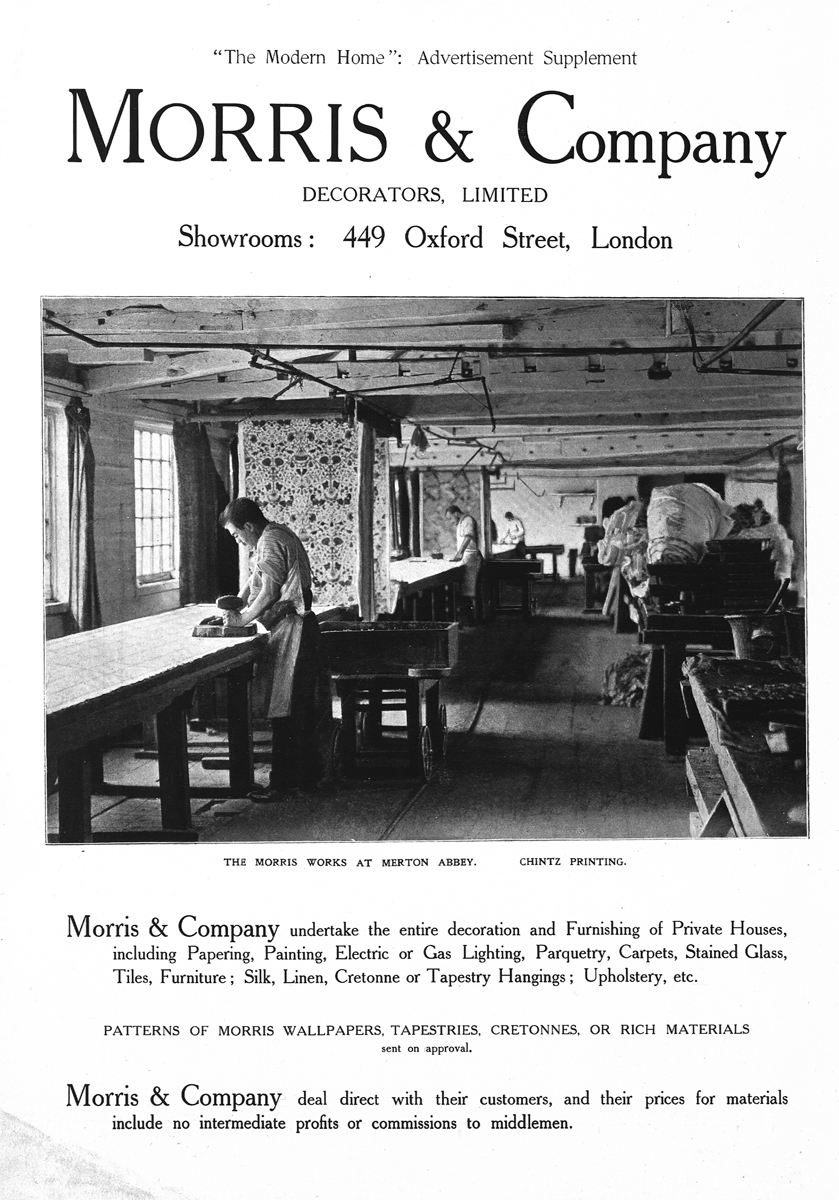 Morris & Company advertisement from 'The Modern Home'