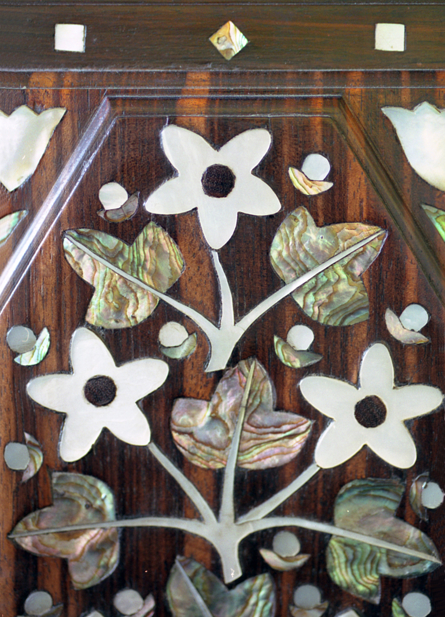 Detail of mother of pearl inlay
