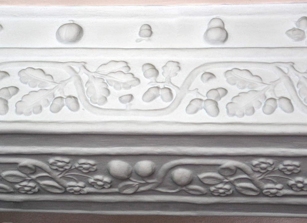 Detail of plasterwork at Inglewood