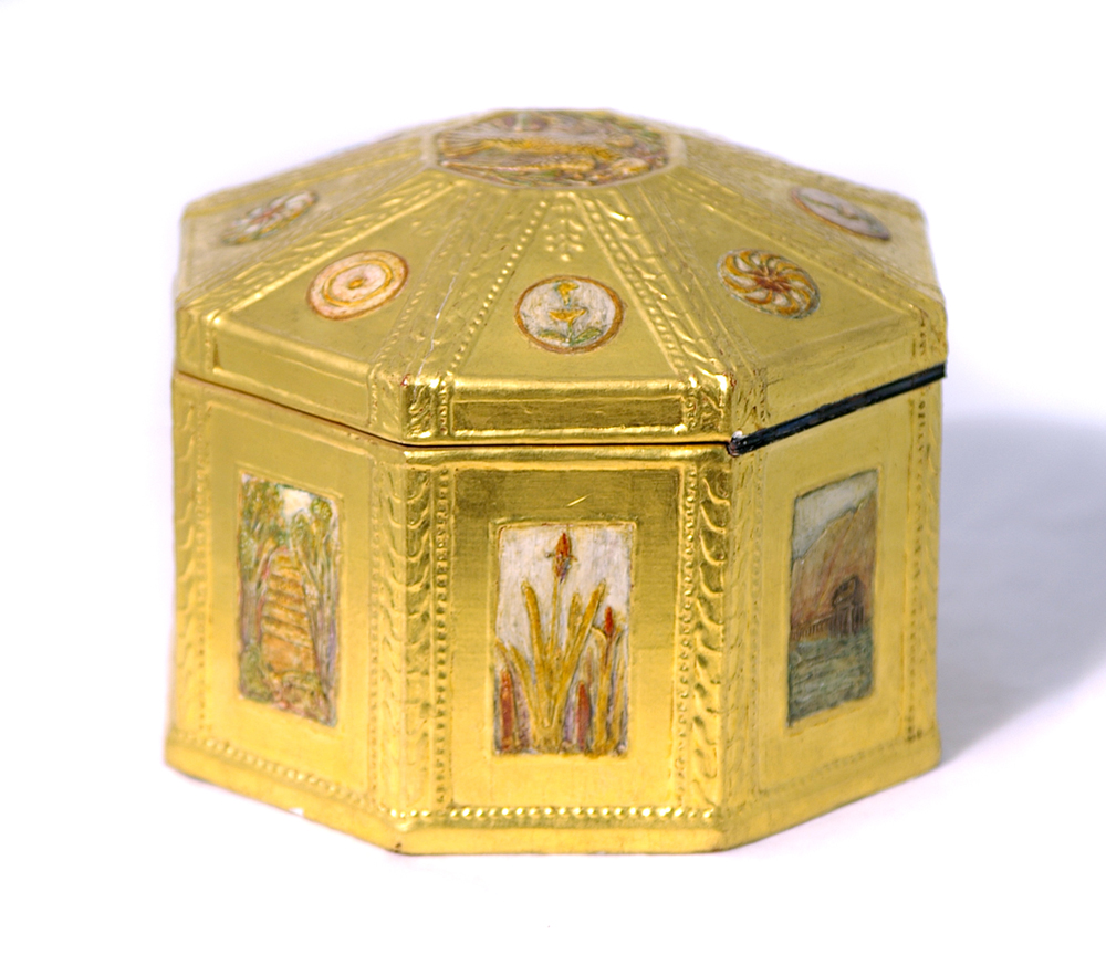 A gesso box from Leicester's Collection, by John Paul Cooper