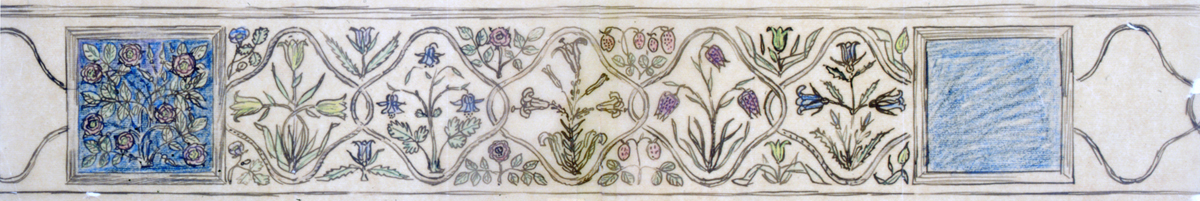 A frieze design by Gimson