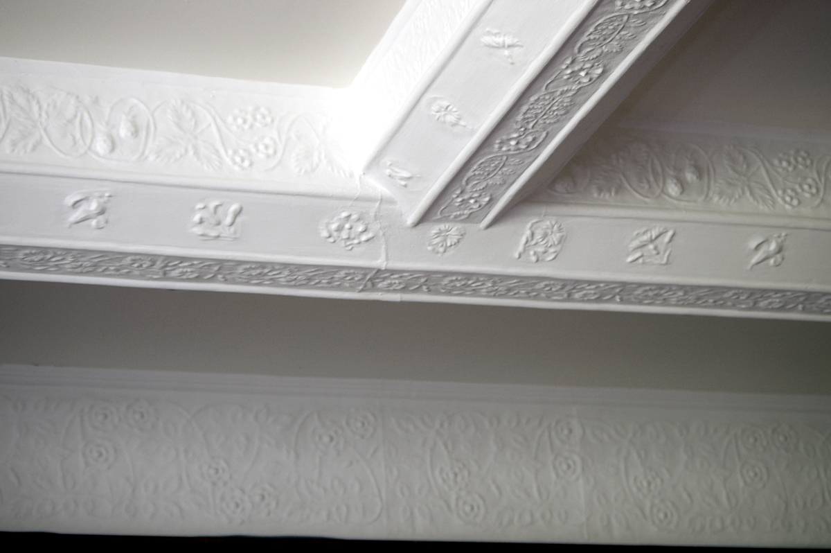 Detail of plasterwork ceilings at the White House