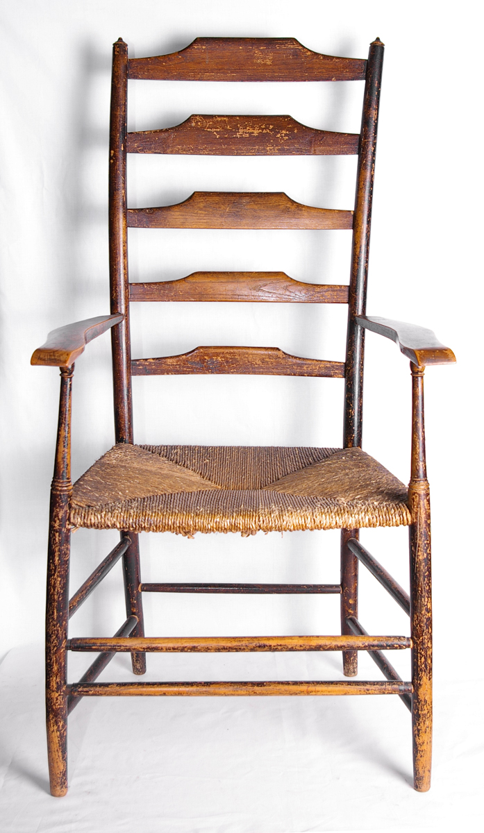 Ladderback chair made by Clissett