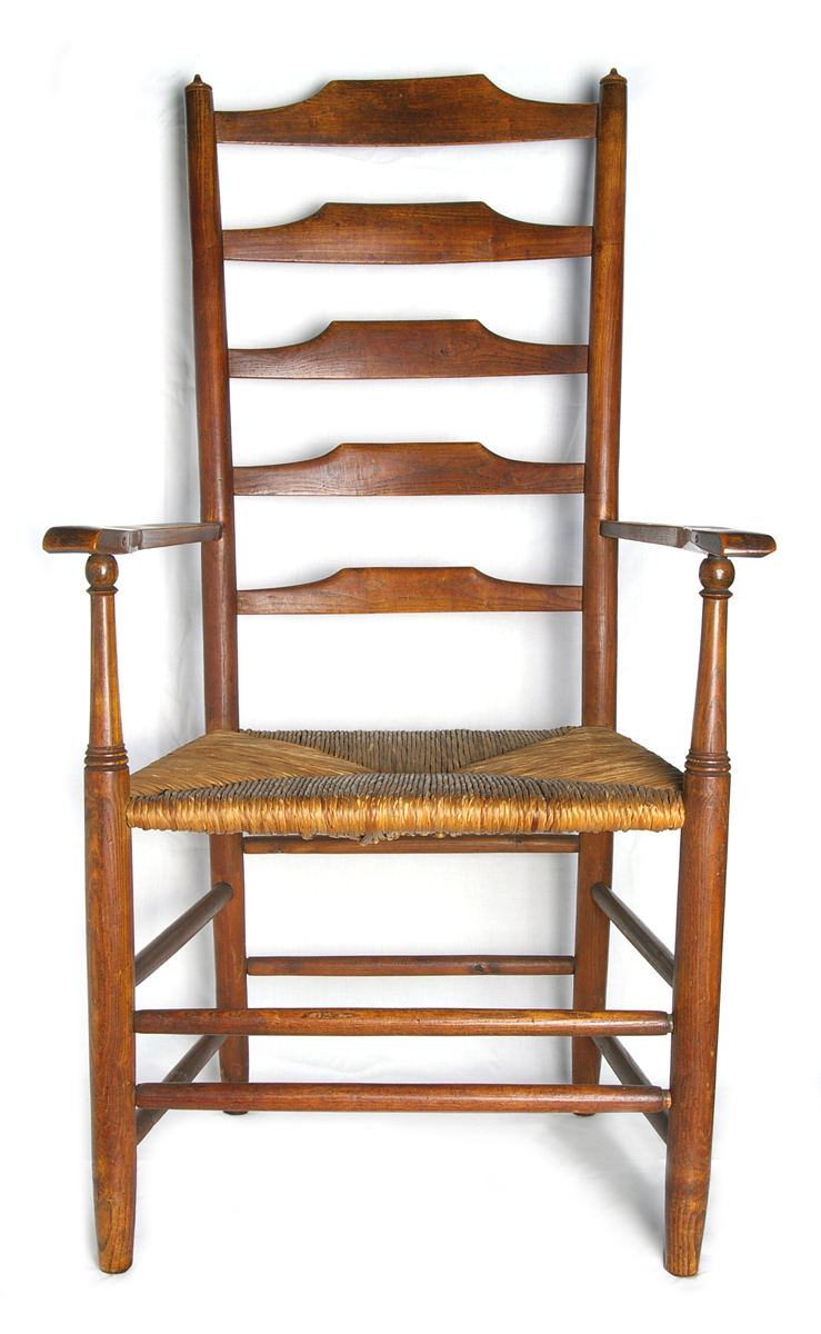 Ladderback chair made by Gardiner
