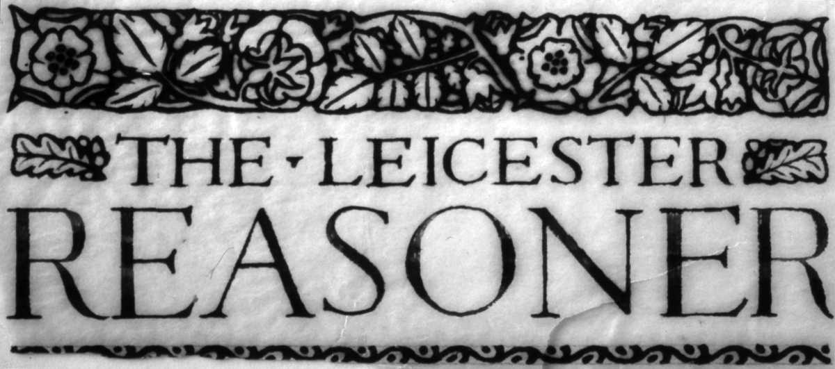 The masthead designed by Gimson