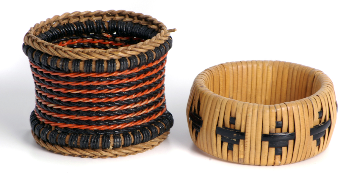 Woven napkin rings by Dryad