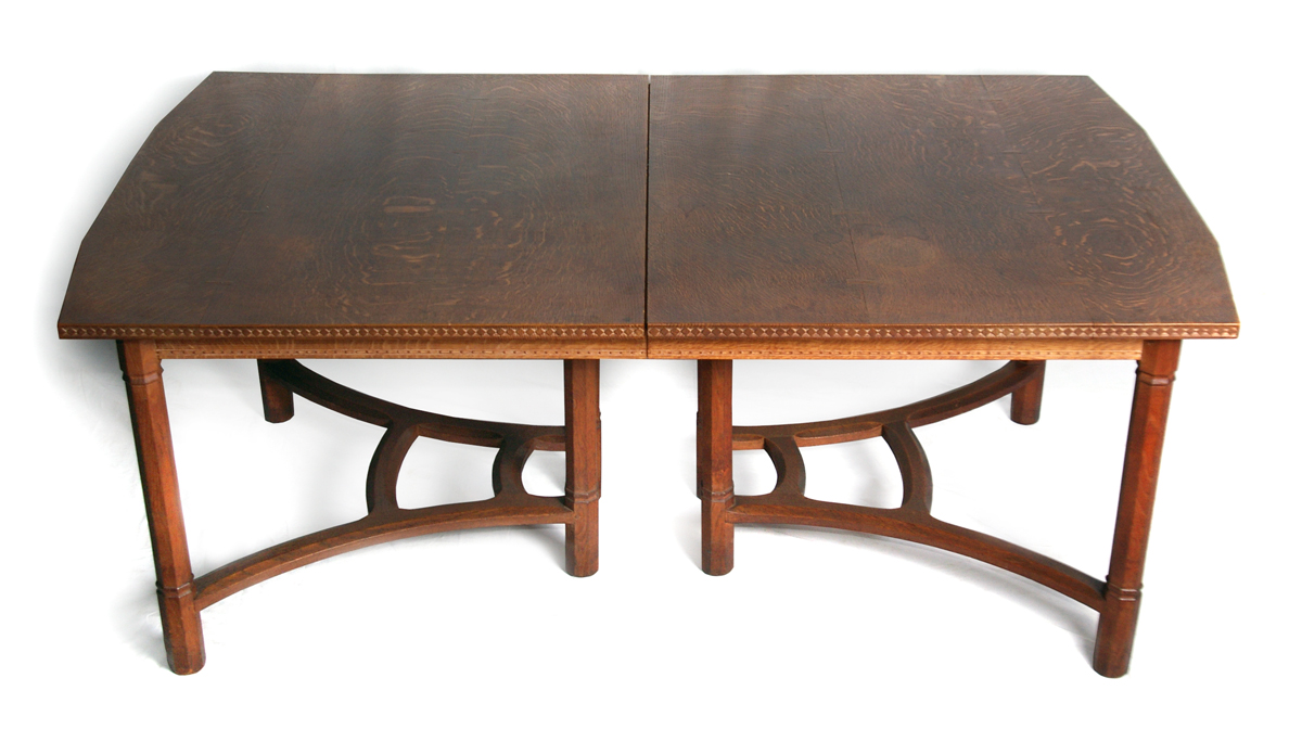 Oak dining table by waals ernest gimson and the arts crafts movement in leicester - Oak dining tables uk ...