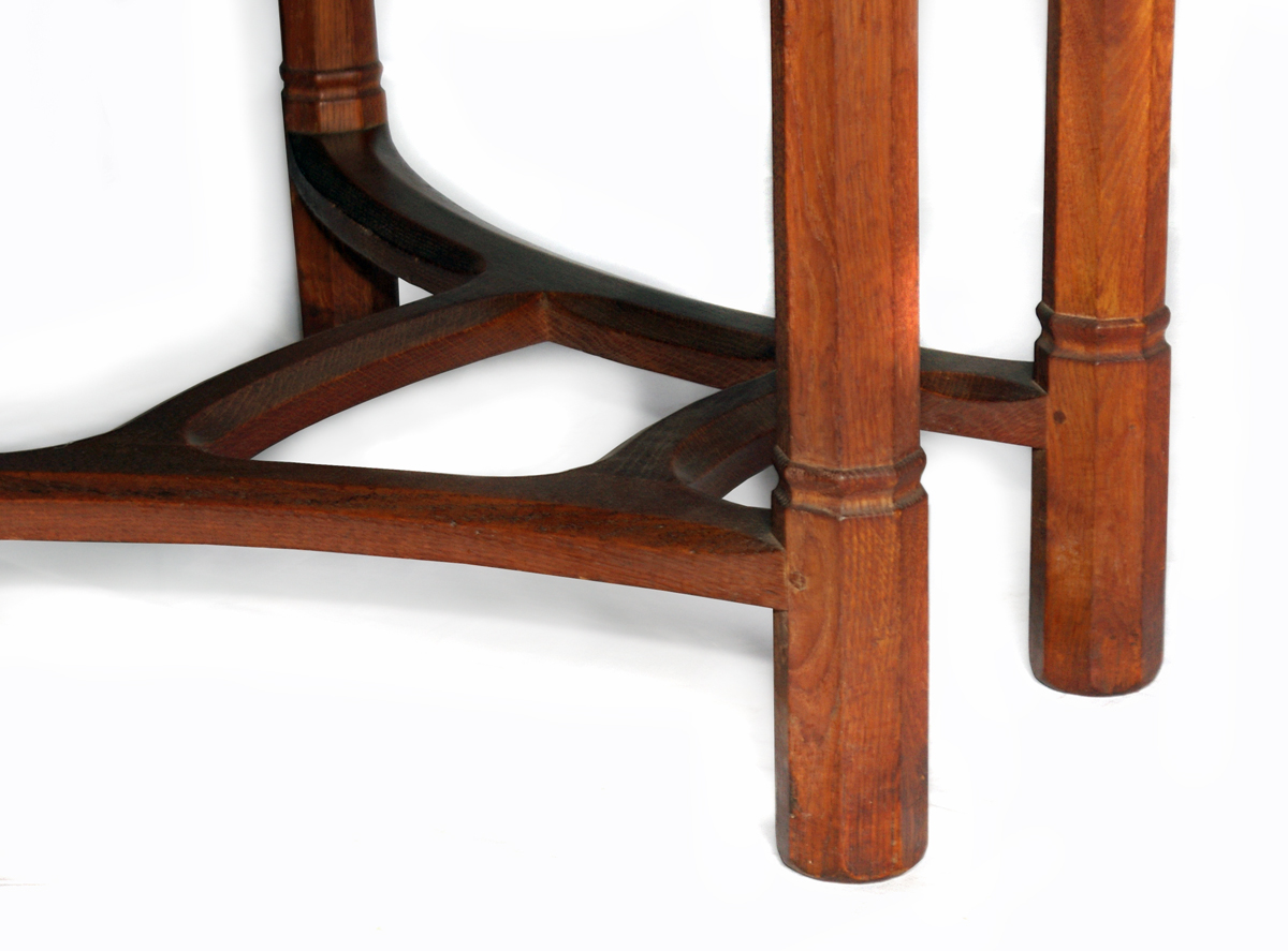 Oak dining table by waals ernest gimson and the arts crafts movement in leicester - Oak dining table uk ...