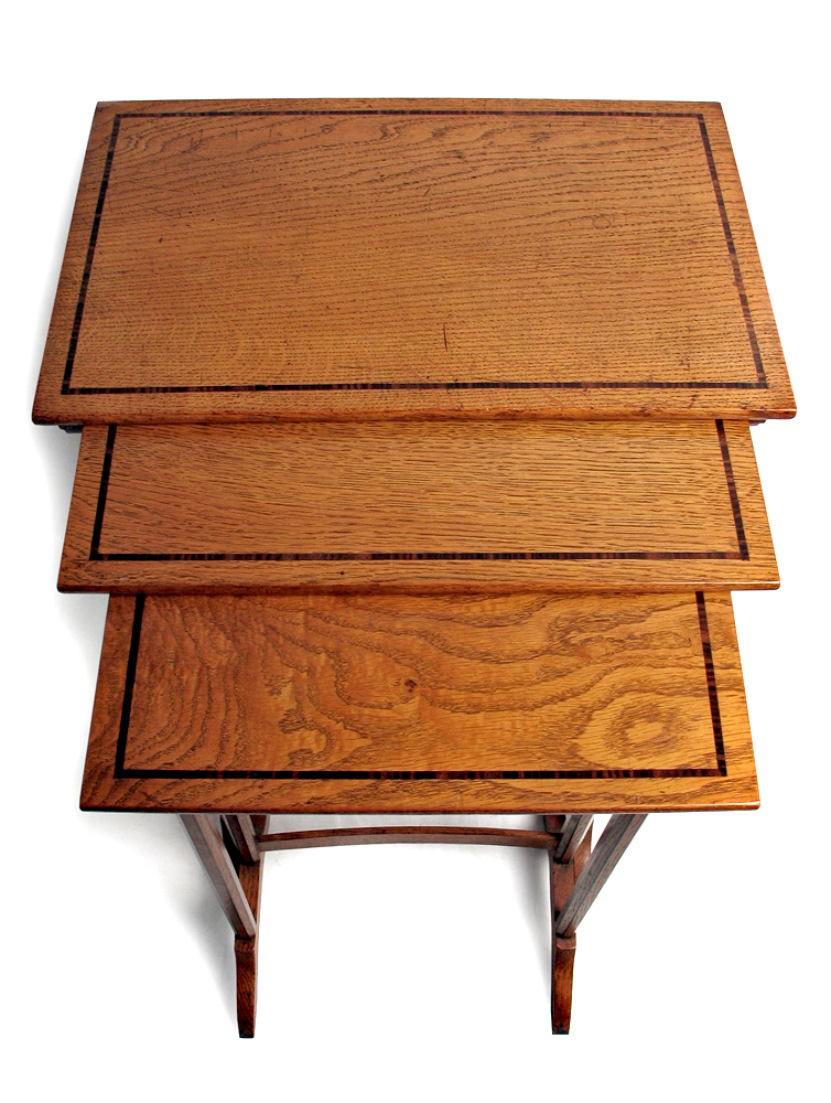 oak nest of tables by waals ernest gimson and the arts. Black Bedroom Furniture Sets. Home Design Ideas