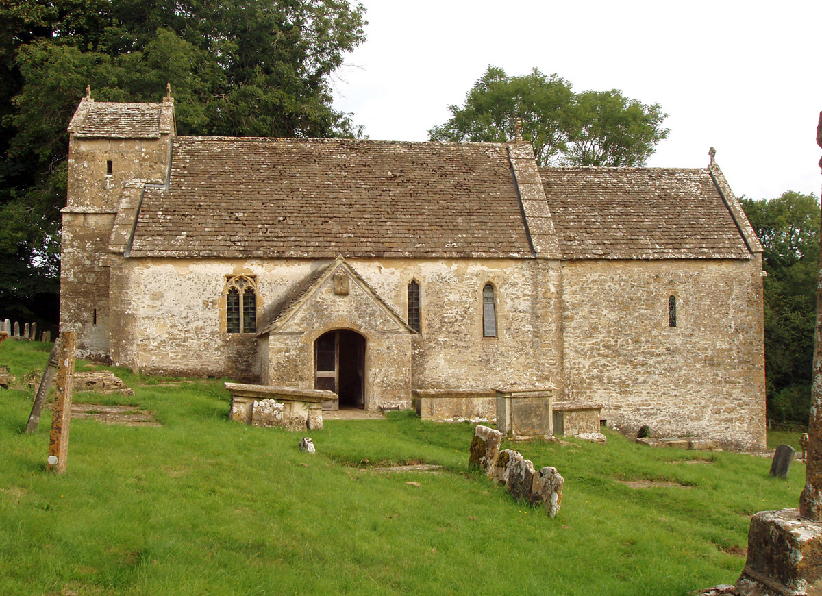 The church at Duntisbourne Rouse where Ernest and Emily Gimson were married