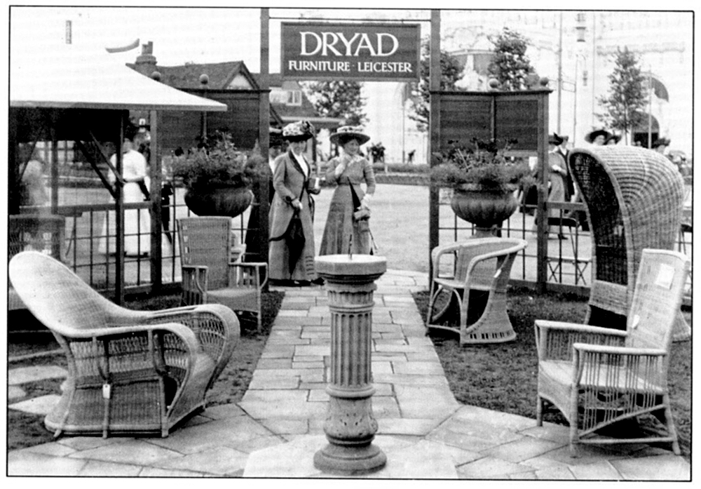 Dryad cane furniture on display at an 1920s Ideal Home Exhibition, Olympia