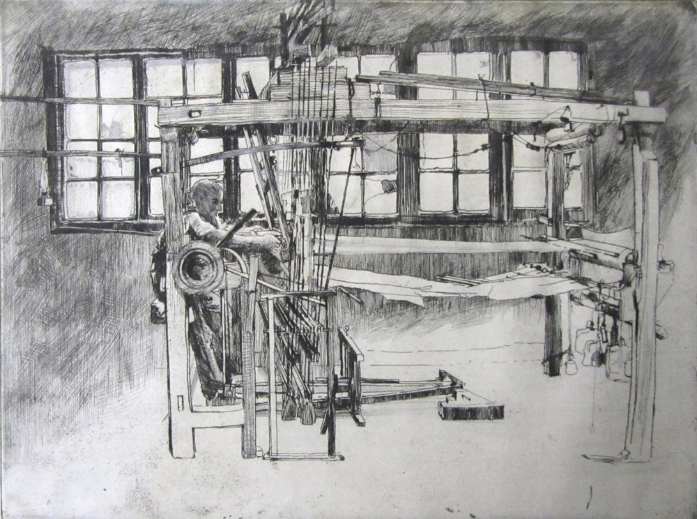 'John Needham, Silk Weaver, Bethnal Green'. Etching, 1898. Private collection.